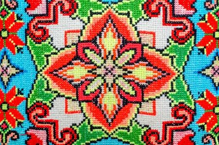 stitch: embroidered good by cross-stitch pattern. ukrainian ethnic ornament