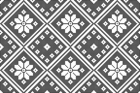 stitch: seamless embroidered good like handmade cross-stitch ethnic Ukraine pattern