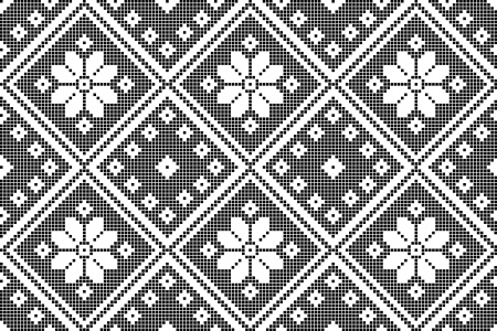 cross stitch: sin costura bordado bien como patr�n hecho a mano en punto de cruz �tnico Ucrania Vectores