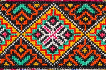 punto de cruz: bordado buen patrón de punto de cruz. ornamento étnico ucraniano