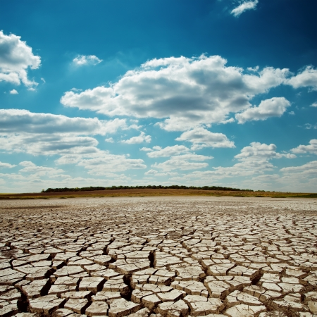 drought earth under dramatic sky Reklamní fotografie - 24389414
