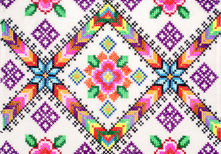 sewing pattern: embroidered good by cross-stitch pattern. ukrainian ethnic ornament