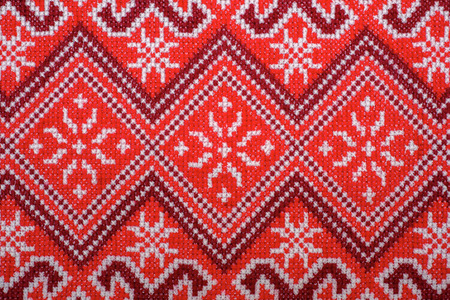 lappet: embroidered good by cross-stitch pattern. ukrainian ethnic ornament
