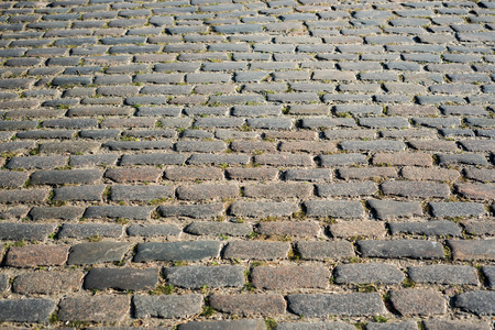 cobblestone road: cobblestone road closeup as background
