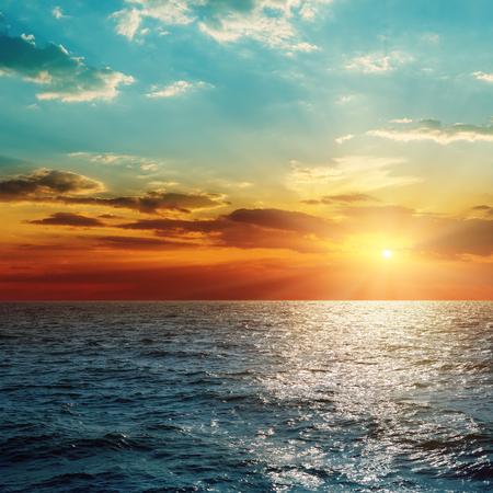 sunset over sea Standard-Bild