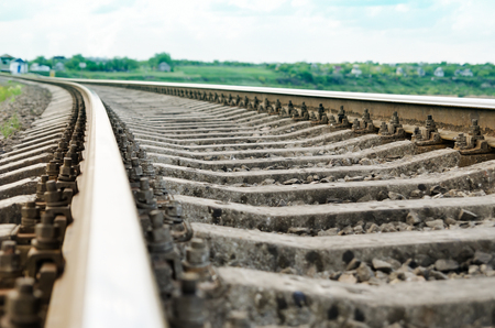 locomotion: railroad closeup. soft focus