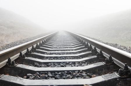 fog: railroad closeup in fog