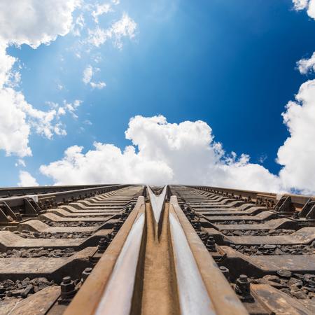 railway to heaven. concept photo