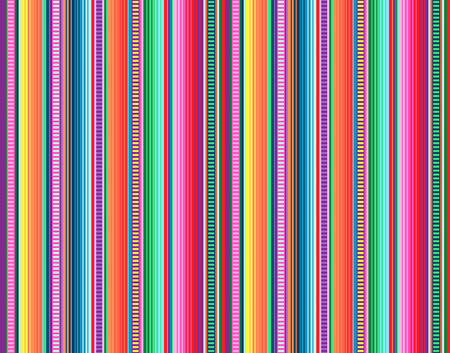 Couverture rayures modèle vectorielle continue. Fond pour décor de fête Cinco de Mayo ou motif de tissu ethnique mexicain avec des rayures colorées. Conception de Serape