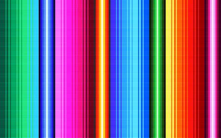 Deken strepen naadloze vector patroon. Achtergrond voor Cinco de Mayo-feestdecor of etnisch Mexicaans stoffenpatroon met kleurrijke strepen. Serape ontwerp