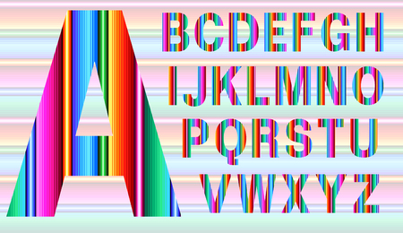 Colorful alphabet in Mexican style Ilustracje wektorowe