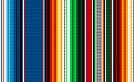Blanket stripes seamless vector pattern. Background for Cinco de Mayo party decor or ethnic Mexican fabric pattern with colorful stripes. Serape design