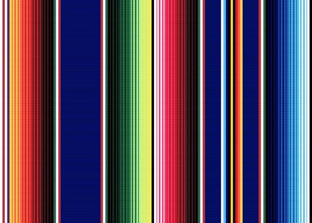 Patrón de vector transparente de rayas de manta. Fondo para la decoración de la fiesta del Cinco de Mayo o patrón de tela étnica mexicana con rayas de colores. Diseño de sarape Ilustración de vector