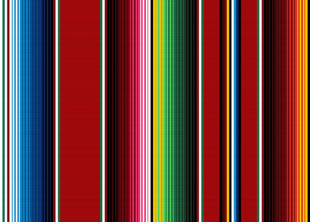 Blanket stripes seamless vector pattern. Background for Cinco de Mayo party decor or ethnic Mexican fabric pattern with colorful stripes. Serape design 版權商用圖片 - 109799441