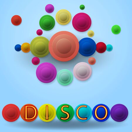 Colorful abstract background. Disco retro style.