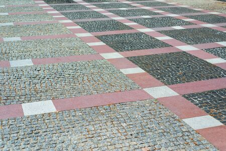 cobblestone pavement as background or texture