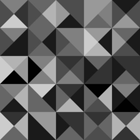 Seamless polygon background pattern with triangles in grey colors