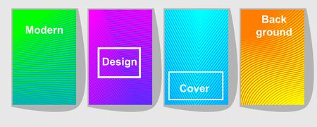 Set of colorful covers with trendy gradients. geometric abstract background. Brochure template layout, cover design, business annual report, flyer, magazine.