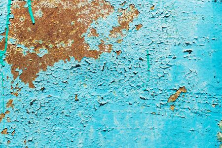 abstract blue paint background. textured cracked wall