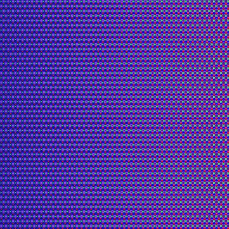 Abstract background with red, green and blue dots, like digital display. RGB screen dots pattern. Analog display television. Close up texture in vector.