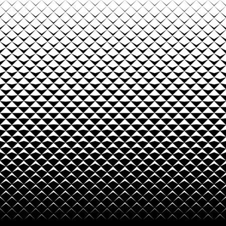 Abstract monochrome background with triangles. Seamless halftone pattern. Vector Illustratie