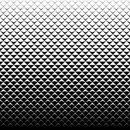 Abstracte zwart-wit achtergrond met driehoeken. Naadloze halftoonpatroon. Vector Illustratie