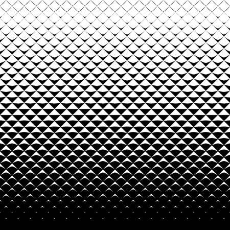 Abstracte zwart-wit achtergrond met driehoeken. Naadloze halftoonpatroon.