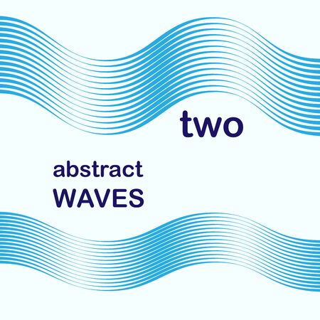 two abstract waves as icon or background
