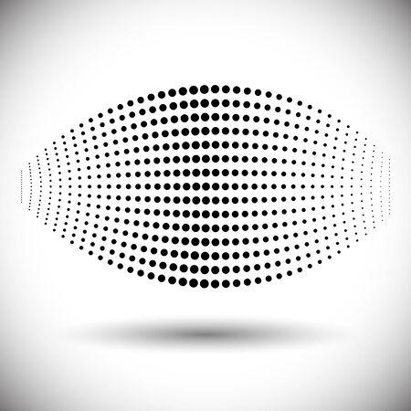 halftone geometric item. ball from dots