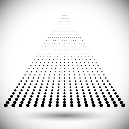 dotted triangle as icon or background. halftone design