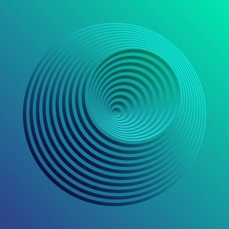 circles with gradient in blue and green colors as background
