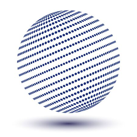 world icon with blue dots