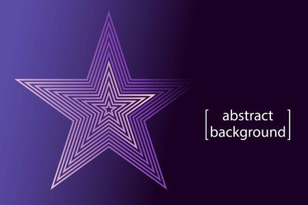 pink star symbol on purple gradient background