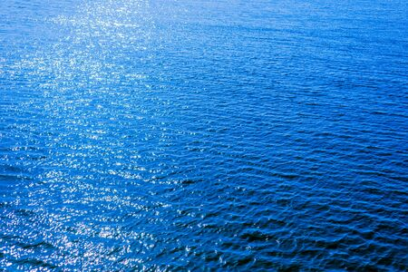 blue water background or texture. aerial view 스톡 콘텐츠