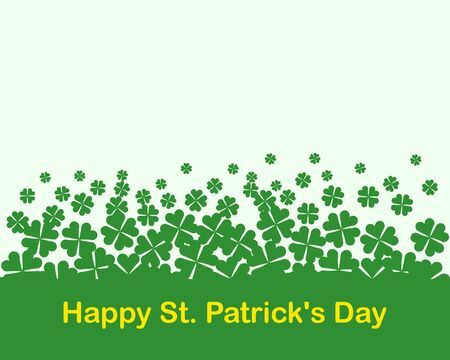 A four-leaf clover as green background. Happy St. Patrick's Day concept.