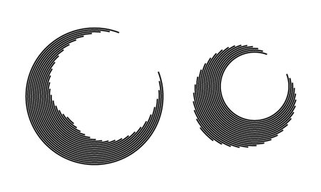 Round icon with lines. Spiral vector illustration. Abstract geometric shape. 向量圖像