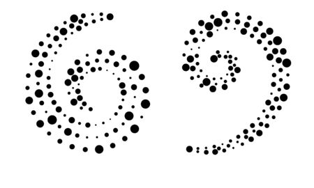 Circle dots backdrop. Halftone shapes, abstract  emblem or design element for any project. Çizim