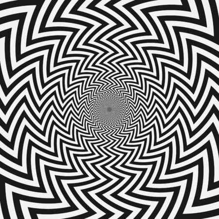 abstract monochrome stripes background. optical illusion design Ilustrace