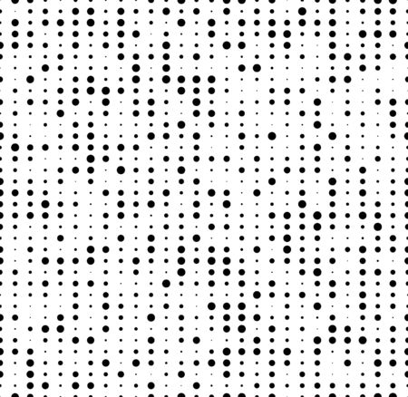 seamless dots background with random sizes