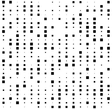 halftone squares design. seamless abstract background with random sizes square.
