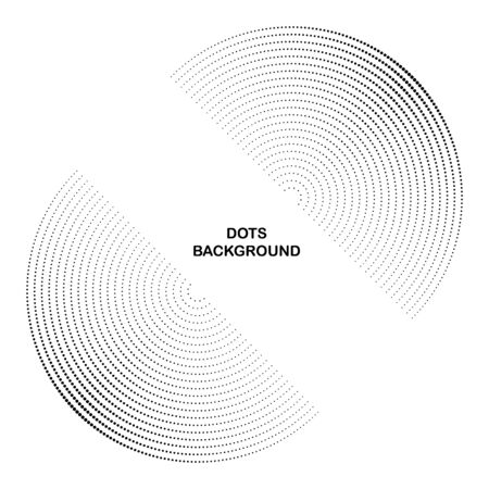 Halftone dots in circle form. Round icon. Vector dotted frame as design element
