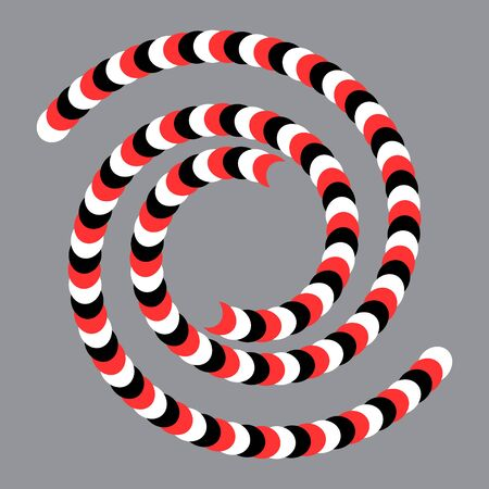 art optical illusion effect with spiral