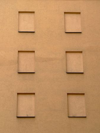 without windows: The wall of building without windows.