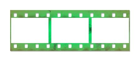 The photographic film with shadow on a white background. photo
