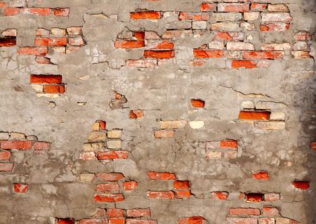 The fragment wall of brick close-up. Stock Photo - 6901013