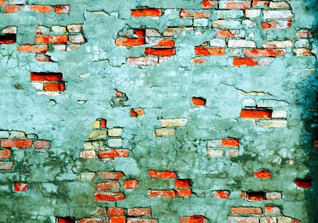 fragmented: The fragment wall of brick close-up.