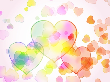 The abstract background from hearts.