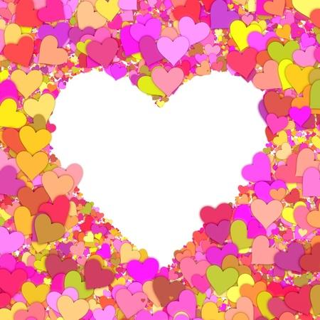 The shape of heart made of hearts. Stock Photo - 9100106