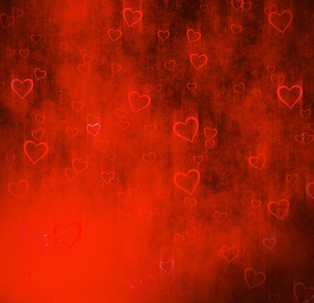 The grunge background from hearts. Stock Photo - 9100108