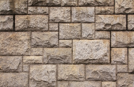 stoneworks: The stone wall close up.